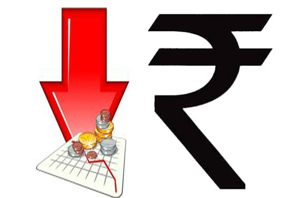 Rupee hits new record low of 70.82 - Sakshi