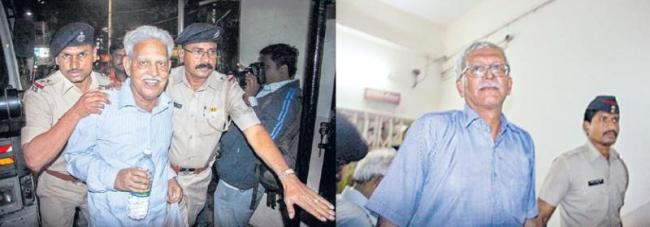 House arrest for Varavara Rao, other activists - Sakshi