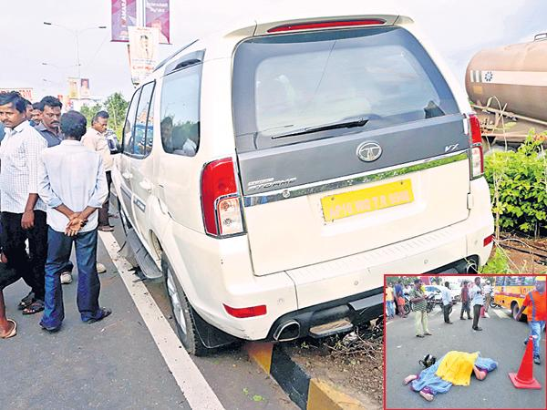 Elderly couple are dead with the accident of MLA Pothula Ramarao - Sakshi