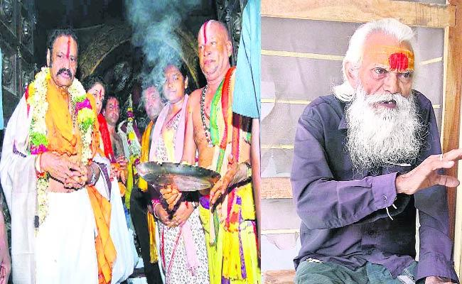 Hari Krishna Visited Warangal Bhadrakali Temple - Sakshi