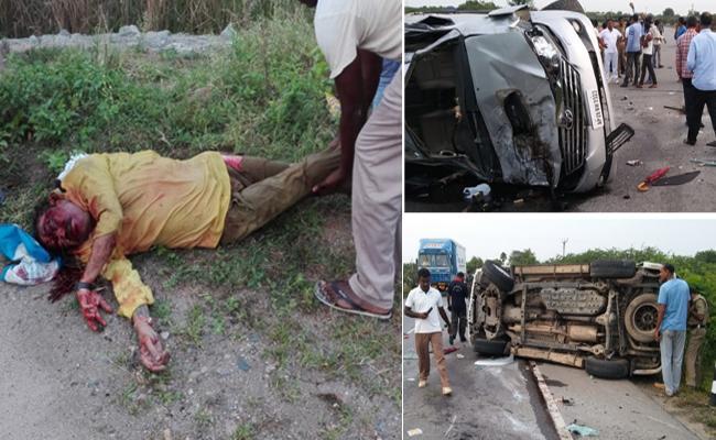 Nandamuri Harikrishna Road Accident in Yellow color dress  - Sakshi