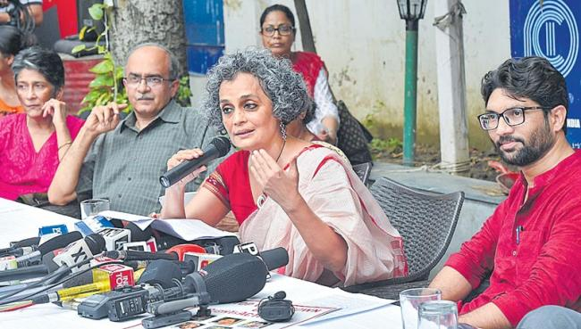 5 human rights activists to be kept under house arrest till next hearing - Sakshi