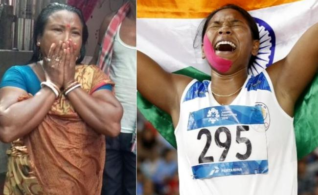 Swapna Mother Burst into Tears And Rushed to the Temple - Sakshi