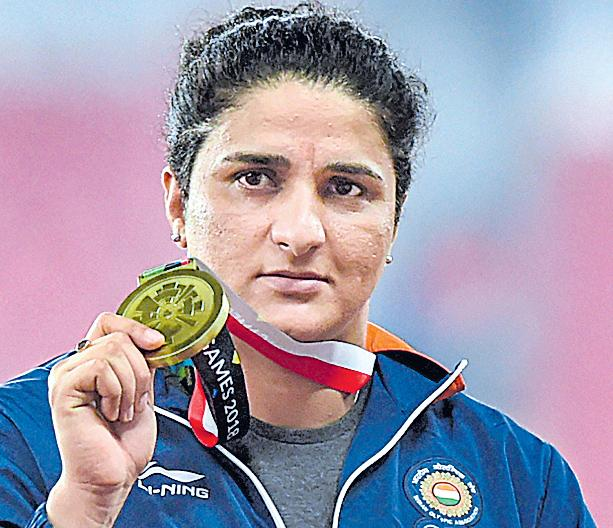 Asian Games 2018: Seema Punia clinches bronze in discus throw - Sakshi