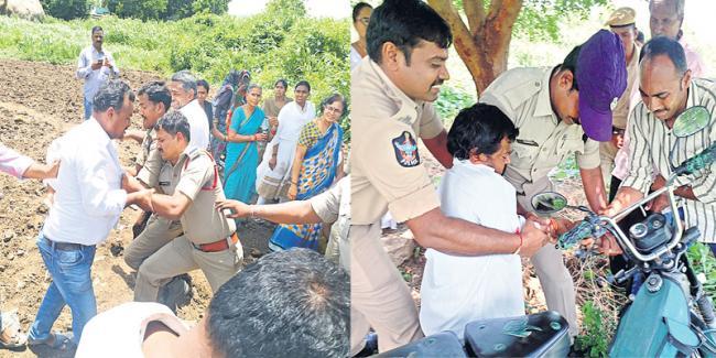 revenge on Undavalli farmers - Sakshi