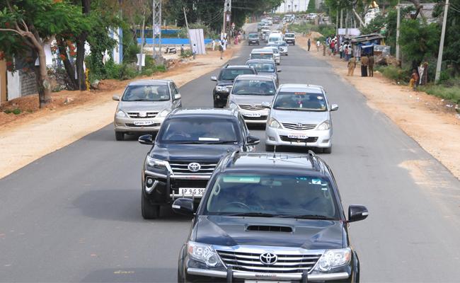 CM Conway Bills Pendiong Worried Transports - Sakshi