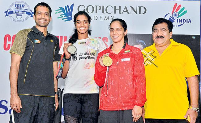 Saina And Sindhu Ready For Fight With Tai Ju Ying - Sakshi