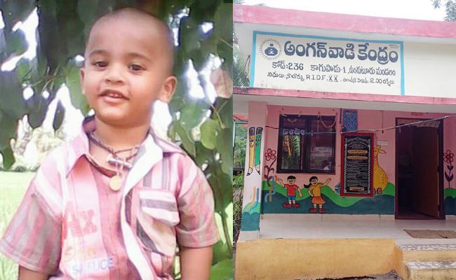 Boy Dead In Anaganwadi School West Godavari - Sakshi