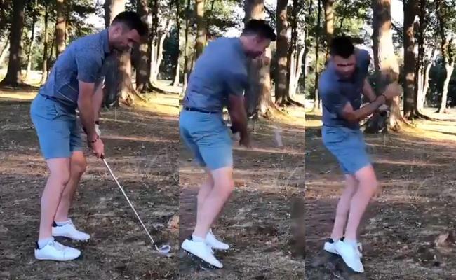 James Anderson Golf Outing Became Worst - Sakshi
