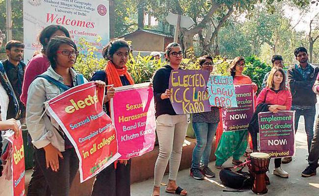 Sexual Harassment Cases Rise In Delhi University - Sakshi