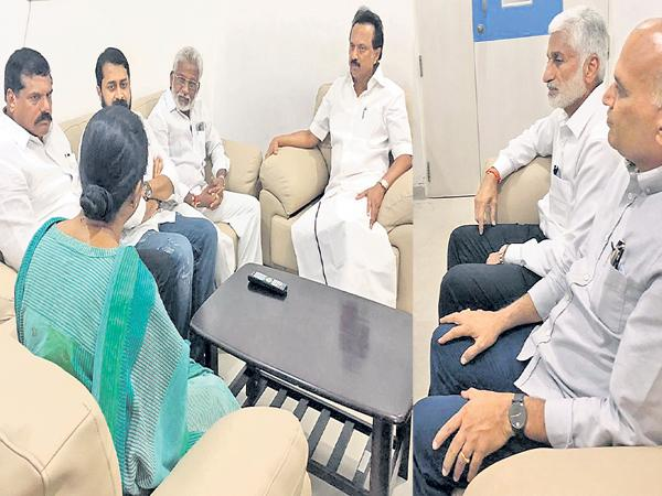 YSRCP Leaders Says We pray to God for recover of Karunanidhi - Sakshi