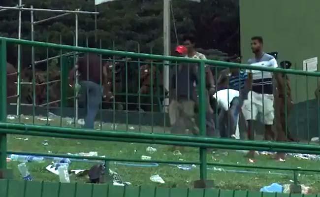 Sri Lankan Fans Cleaned The Pallekele Stadium - Sakshi