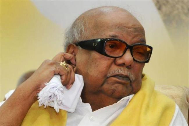 Karunanidhi death celebrates mourners - Sakshi