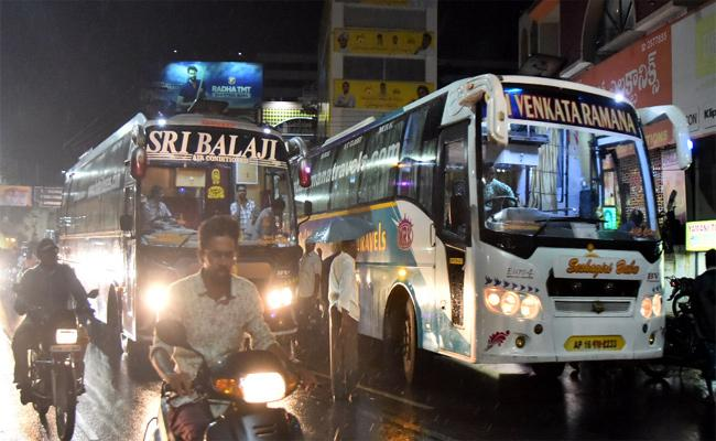 Transport Department Negligance On Private Travels Krishna - Sakshi