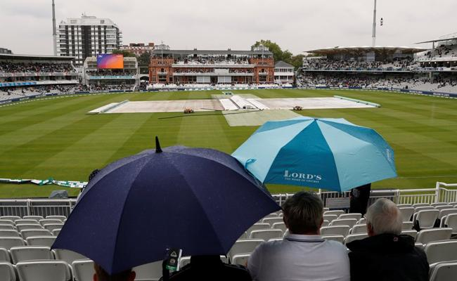 Lord Test Match Delay Due to Rain  - Sakshi