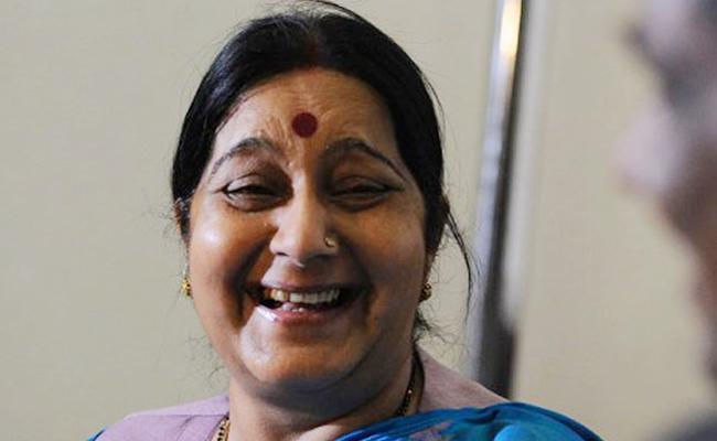 Sushma Swaraj Funny Reply on Bali Inquiry  - Sakshi