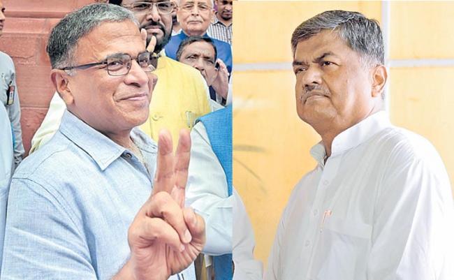 NDA's Harivansh versus opposition's Hariprasad for Rajya Sabha deputy chairman's post - Sakshi