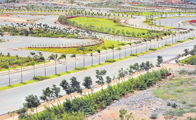 Yadadri Officials Focus On Greenery And Tourism - Sakshi