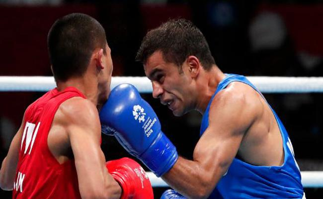 Amit Panghal wins gold in mens Light Fly boxing event - Sakshi