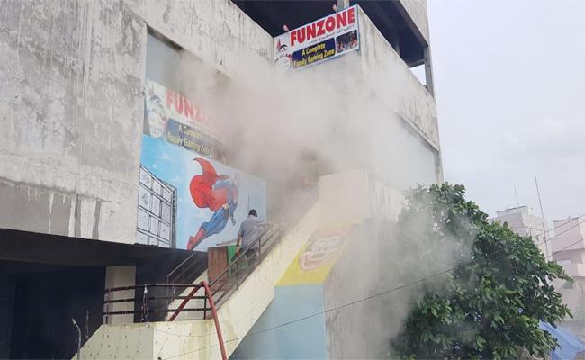 Fire Accident in Fun Zone East Godavari - Sakshi