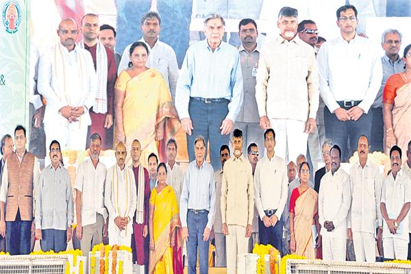 Chandrababu comments on TATA Trust - Sakshi