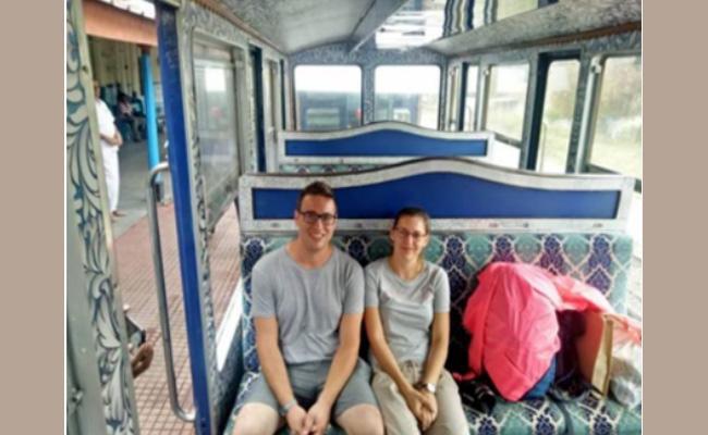 UK Couple Celebrate Honeymoon Trip In Nilgiri Mountain Railway - Sakshi