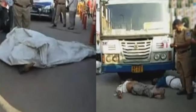 Three Killed In Road Accident At Gachibowli Chowrasta - Sakshi