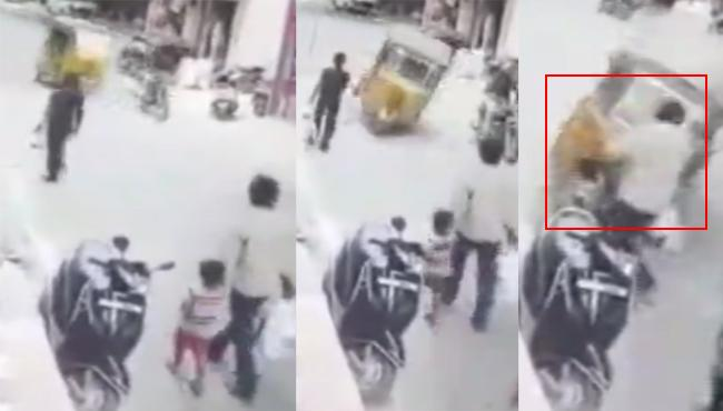 5 Years Old child Hit By Auto in Ramanthapur - Sakshi