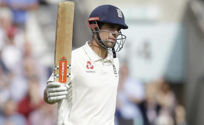 Alastair Cook Century In Fifth Test Against India - Sakshi