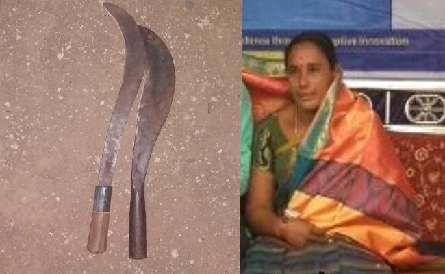 Woman Died In Knife Attack In Prakasam - Sakshi