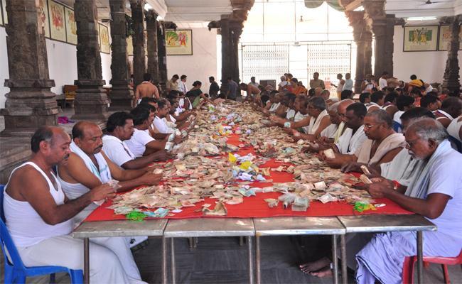 Bhadradri Temple Hundi Collection In Khammam - Sakshi