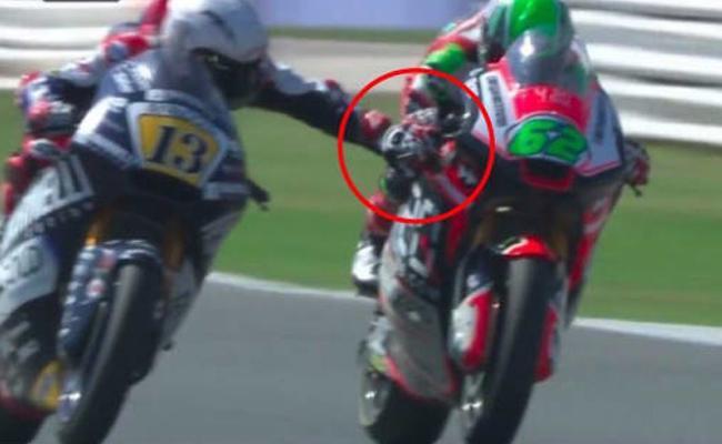 Motorcycle Racer Faces Lifetime Ban After Grabbing Rivals Brake - Sakshi