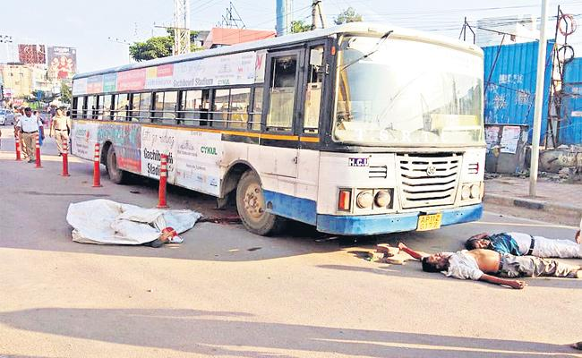 RTC Bus Accidents In hyderabab - Sakshi