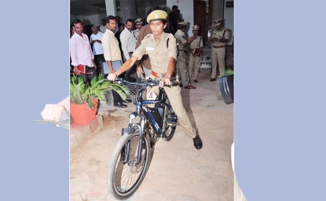 Bycycle Petroling For Woman Safety Krishna - Sakshi