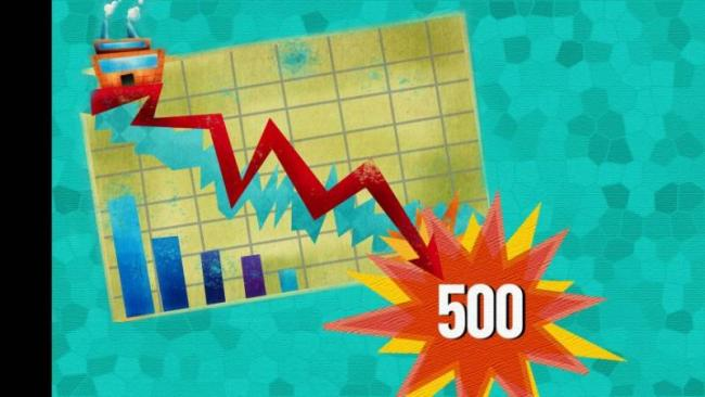 Sensex Sees Biggest Fall In Six Months - Sakshi