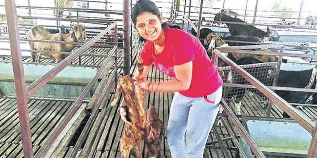 Female farmer shwetha happyness - Sakshi