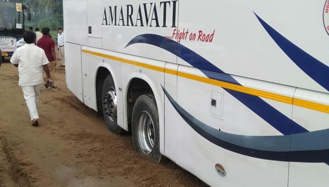 TDP MLAs Are Safe In Road Mishap - Sakshi