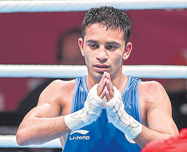 Asian Games gold medallist boxer Amit Panghal nominated for Arjuna award - Sakshi