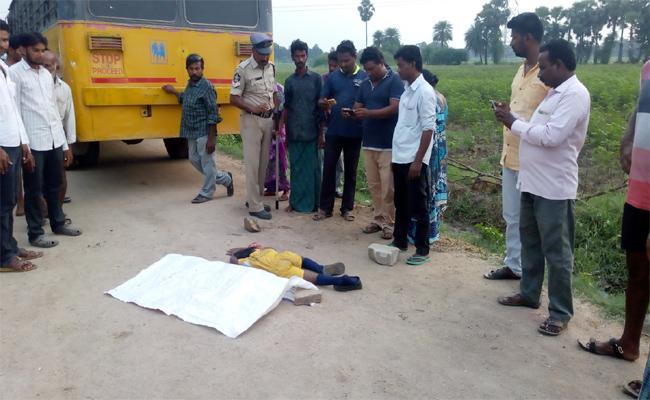 Child Death In Bus Accident Krishna - Sakshi