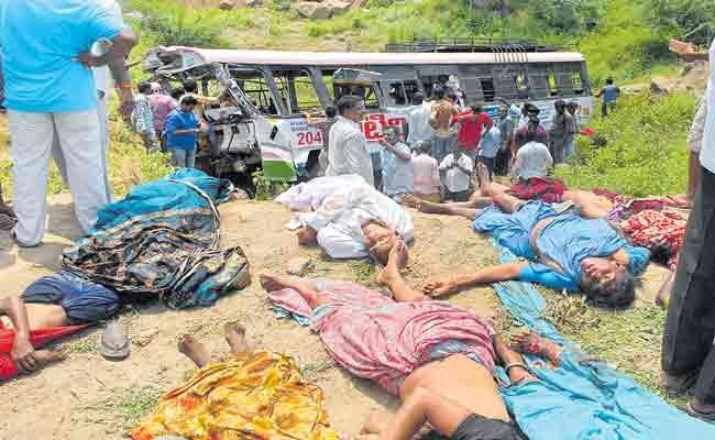 57 Died In Horrible Bus Accident At Kondagattu In Jagtial District - Sakshi