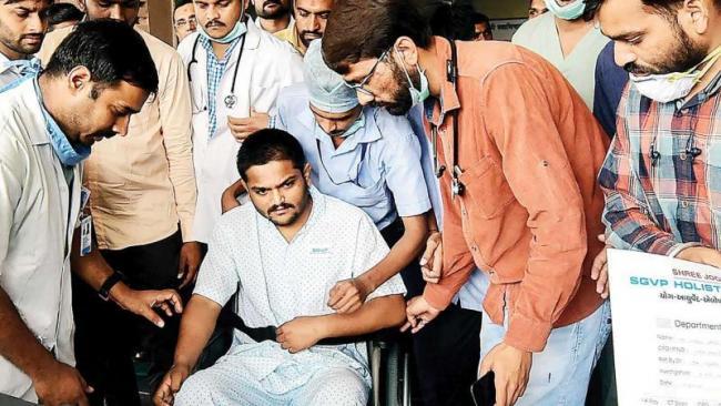 Patidar Leader Hardik Patel Ends Fast - Sakshi