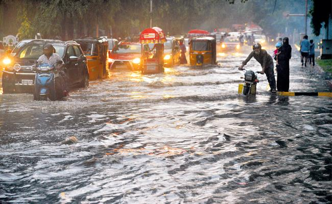 Heavy Rains In Hyderabad - Sakshi