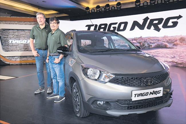 Tata Motors unveils Tiago NRG - Sakshi