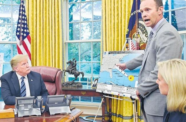 Trump says authorities 'totally prepared' for Hurricane Florence - Sakshi