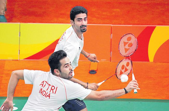 Manu-Sumeeth shock Olympic silver medallists at Japan Open - Sakshi