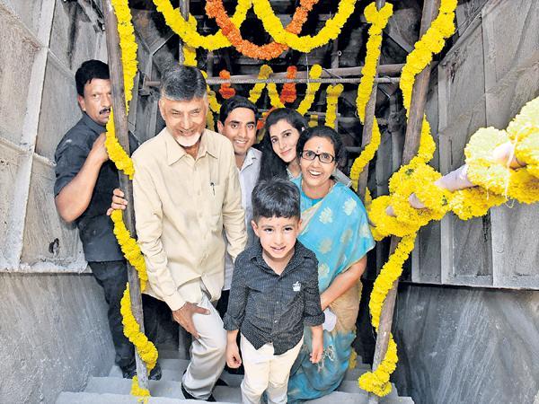 Chandrababu Family gallery walk At Polavaram - Sakshi
