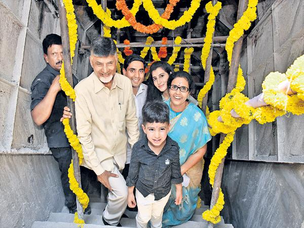 Chandrababu Family gallery walk At Polavaram - Sakshi