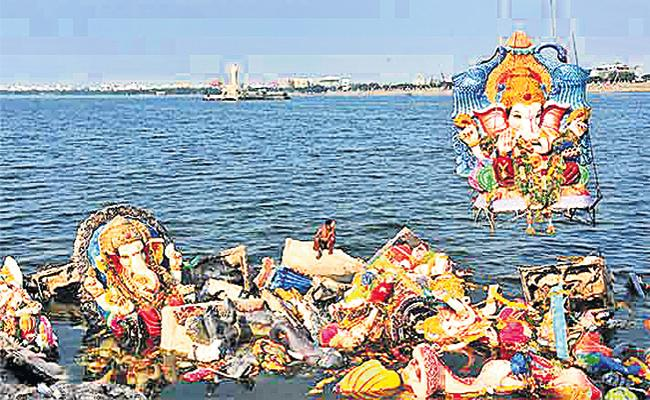 GHMC Ready For Ganesh Nimajjanam In Hyderabad - Sakshi