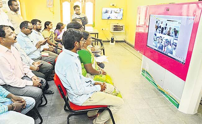 Fiber Grid  Digitization Telangana Govt Schools Rangareddy - Sakshi