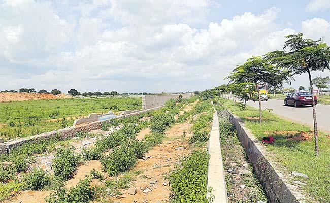 Govt Lands Kabza In Rangareddy - Sakshi